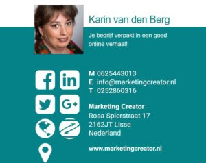 marketing creator karin van den berg zzpedia